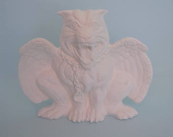 DIY - Paint Party - Ceramic Bisque - Gothic Gargoyle - Halloween Birthday- Ready To Ship -Craft For Adult - Paint Kit -