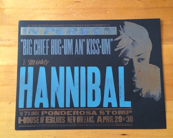 MIGHTY HANNIBAL Hand Pulled Letterpress Music Print Poster