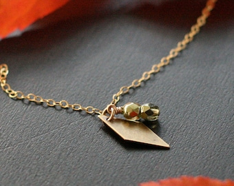 SALE! - juliet - gold and bronze pendant necklace by elephantine