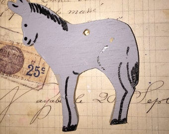 Vintage Wood Horse Cut Out