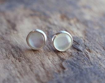 Pearl Stud Sterling Silver Earrings - 6mm Pearl Earrings
