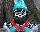 Day of the Dead GARDEN GNOME Folk Art Ceramic Statue