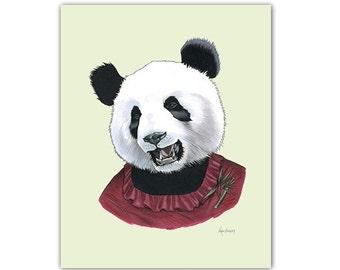 Lady Panda Bear print 5x7