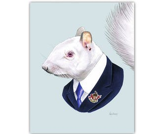 Albino Squirrel print 5x7