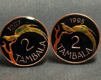 Malawi coin cufflinks 20mm.