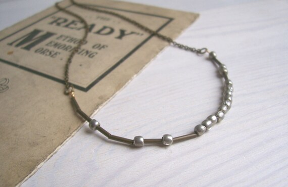 RESERVED for the lovely Andrea - Manchester morse code necklace - mixed metals - customisable - handmade