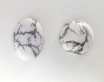 Howlite Cabochons - Set of Two C29