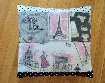 """French Chic Quilted Pillow Cover - 16"""" x 16"""""""