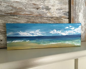 Seascape Painting-Acrylic Painting on Wrapped  Canvas-Jersey Shore-Painting of Beach