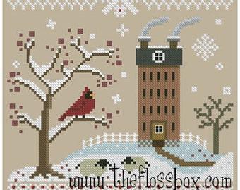 Cardinal Days Cross Stitch Pattern