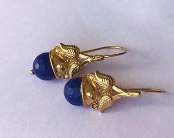 Lapis Queen's crown earring