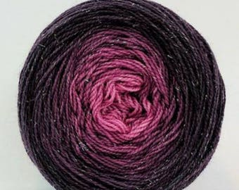 La Vie en Rose Chromatic Gradient, dyed to order - pick your yarn and yardage!