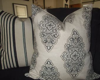 Decorative Medallion pillow cover Moroccan style pillow cover black brown Lacey pattern