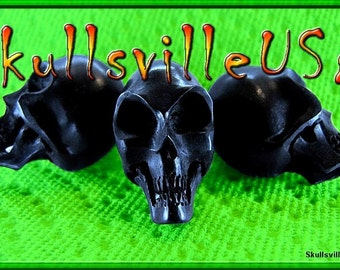 Alien Skull Beads - Individually Hand-carved From Buffalo Horn