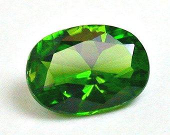 VINTAGE CHROME DIOPSIDE Faceted Gemstone oval 0.82cts fg223