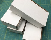 4 boxes - 8 x 4 x 2 White Corrugated Shipping Mailer Packing