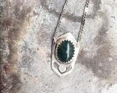 Aires Bloodstone Shield Necklace
