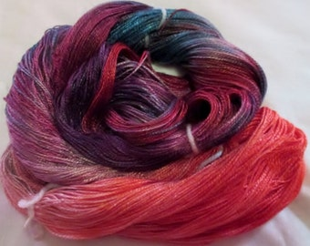 Hand dyed Tencel Yarn - 4/2 Tencel Lace Wt. Yarn  PICK ME - 420 yards