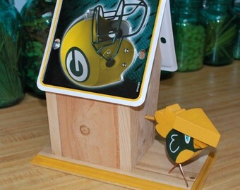 NFL License Plate Birdhouse - Green Bay Packers