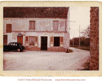 """Rustic Village Vignette from France Vintage French Photo Digital Printable """"Under New Management"""""""
