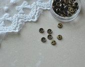 """12pcs+ 5mm/0.195"""" Tiny Antique Bronze/ antique brass buttons for SD Dolls clothes/ Scale Dolls clothes / mini buttons for doll clothes"""