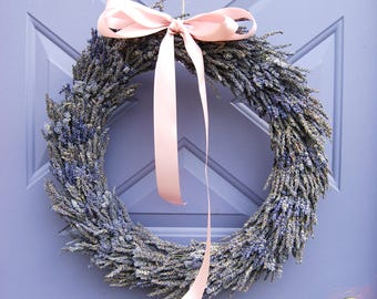 Dried Lavender Wreath Perfect for Beautiful Romantic Weddings, Classic, Natural, Boho Home Decor or Housewarming Celebrations