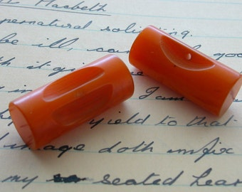 Bakelite Toggle Buttons-Butterscotch Cylindrical