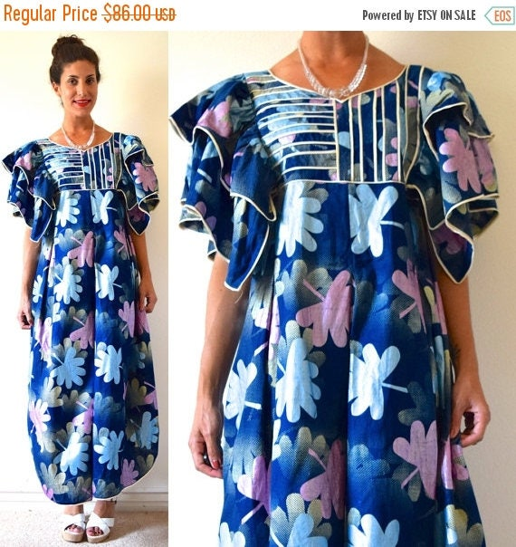 SALE SECTION / 50% off Vintage 80s 90s Metallic Abstract Print Avant Garde Tent Dress