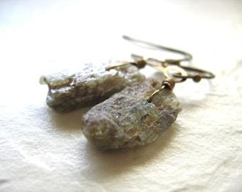 Green Kyanite Earrings, Kyanite Stone Earrings, Artisan Handmade Gemstone Dangle Drop Earrings, Gemstone Jewelry, Kyanite