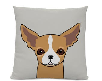 Chihuahua Pillow - Chihuahua on gray Pillow - Chihuahua decor - Chihuahua gift - Funny Chihuahua Pillow - Chihuahua art - kid's room decor