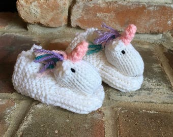 Unicorn Slippers Animal Slippers Baby Unicorn Booties Children Slippers Baby Slippers Knitted Goat Slippers