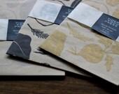 Letterpress Printed Gift Wrap, Block Print, Wrapping Paper, Garden Art, Gift for Gardener, Decorative Paper, Linocut Print, Vegetable Garden