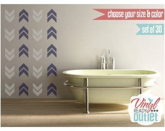 Arrow Chevron Vinyl Wall Decals - Set of 30 - Pick your Size & Color!