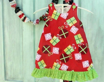 Ready to ship Christmas dress for baby girls