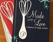 bridal shower recipe book, recipe book blank, personalized recipe book, bridal shower recipe