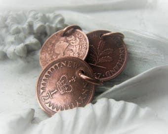 Copper Coin Charm Pendant Coin Vintage Coin Item No. 8077