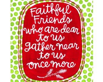 faithful friends holiday print