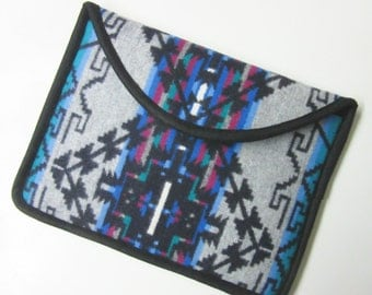"12"" MacBook Laptop Cover Sleeve Case Native American Print Tribal Inspired Wool from Pendleton Oregon"