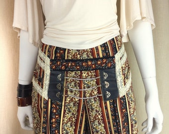Pirate Pants, Costume, Paisley and floral, Lady Pirate, Bohemian, Swashbuckling, Rosalba Valentino Couture, OOAK, Halloween costume, RenFair