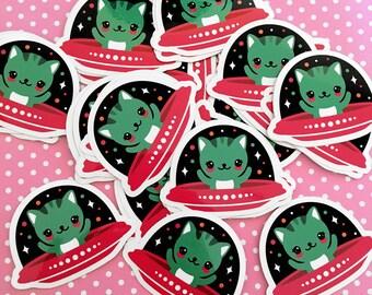 UFO Cat Vinyl Sticker