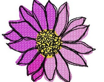 Open Flower Small Machine Embroidery Design by Letzrock  3110