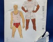 Kwik Sew 2334, sewing pattern, men's  underwear, Sizes S to XXL, not new, open envelope
