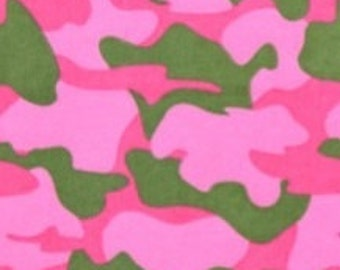 PINK CAMOUFLAGE  Flannel Pajama/Lounge Pants  Available in children's sizes 0-3 months to 16.  Contact me for adult sizes to 3X