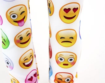 Fits like American Girl Doll Clothes - Emoticon Leggings, Made To Order