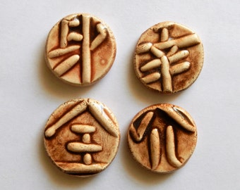 new price Asian theme clay coins