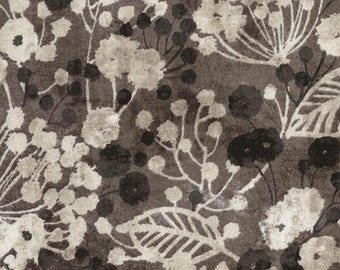 Shadow Chic -Viney Floral - Iron- Timeless Treasures -Quilt Fabric -By the yard- By the half yard -by Michele D'Amore.