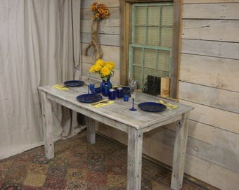 """Driftwood Table (80"""" x 36"""" x 30 or 36""""H) (WhiteWashed & Polycrylic)(Custom request New pictures soon)"""