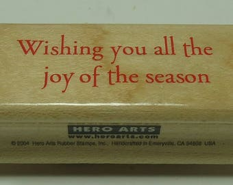 Wishing You All The Joy Of The Season Wood Mounted Rubber Stamp From Hero Arts  Wishing Joy C3235, Christmas, Holiday, Joy, Season
