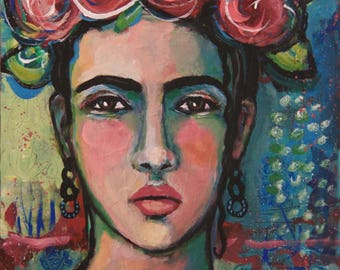 Alegria - Original 8 x 10 inch Portrait Painting