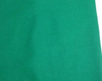 Vintage Kelly Green Gabardine Fabric Remnant 3/4 Yard